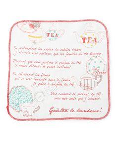 Afternoon Tea / CS30 티 무늬 접시 크로스 2 장 세트 (행주) / TEA MOTIF COLLECTION (주방 용품) - ZOZOTOWN