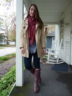 I would love this with rain boots on a drizzly day
