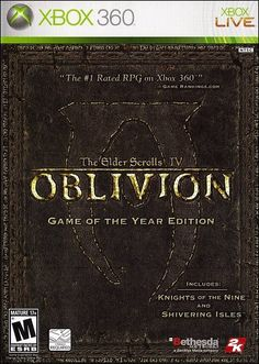 Video Games - Xbox 360 - Ideas of Xbox 360 - The Elder Scrolls IV: Oblivion Game-of-the-Year Edition (Xbox Oblivion Game, Elder Scrolls Oblivion, Warhammer Online, Scrolls Game, Bethesda Softworks, Game Of The Day, Video Game Collection, Latest Video Games, Xbox Console