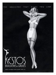 Vintage - 1930's Kestos lingerie ads