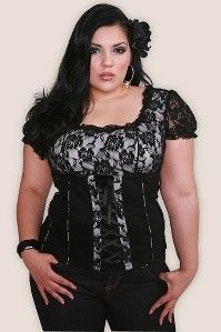 Torrid.com - Plus sizes - Tripp Black and White Rose