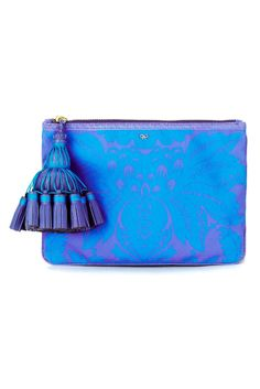 Bold electric coloured clutch, a must have for statement dressing.Style.com Accessories Index : spring 2013 : Anya Hindmarch