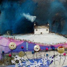 'As the snow thawed' By Louise O'Hara of DrawntoStitch https://www.facebook.com/DrawntoStitch