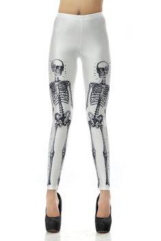 Legging estampado con cráneo-Blanco EUR€23.02