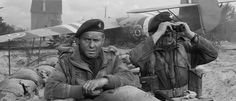 Richard Todd in The Longest Day starring as the commander of the glider troops who took the Pegasus Bridge on D-Day, an action he was actually involved in for real in Le Jour Le Plus Long, Richard Todd, Omaha Beach, Film Man, Excellent Movies, Saving Private Ryan, War Film, Long Day, Moving Pictures