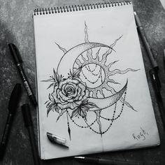 I really want this as a tattoo - tattoos - like to tatoo feminin Future Tattoos, Love Tattoos, Beautiful Tattoos, Body Art Tattoos, Small Tattoos, Tattoos For Women, Crown Tattoos, Heart Tattoos, Beautiful Moon