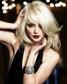 Hairstyles For Little Black Dress, long blonde #bob More
