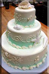 A seashell wedding cake for your beach theme wedding