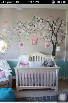 Love the tree with the hanging pictures