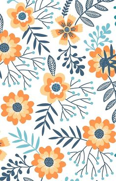 'Summer Flowers' iPhone Case by – Muster Apple Watch Wallpaper, Iphone Wallpaper Fall, Cute Wallpaper Backgrounds, Cute Wallpapers, Surface Pattern Design, Pattern Art, Print Patterns, Floral Illustrations, Flower Patterns