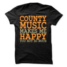 (Top Tshirt Fashion) Country Music makes Me Happy T-Shirt [TShirt 2016] Hoodies, Funny Tee Shirts