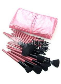 I found 'Professional 32 Pieces Makeup Brush Set With Fuchsia Case' on Wish, check it out!