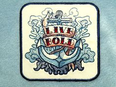 Live Bold Iron on Patch