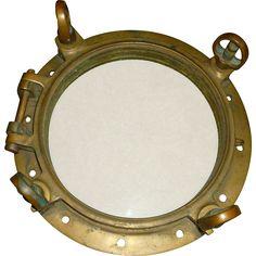 Ships Port Hole Antique Heavy Brass/Bronze  found at www.rubylane.com @rubylanecom #fathersday #dad