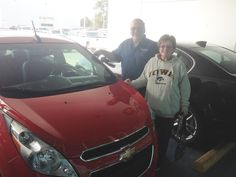 DELMER AND CHERYL's new 2015 CHEVROLET SPARK! Congratulations and best wishes from Orr Chevrolet and WESTON FROST.