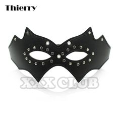 Life in ad 3000 halloween cosplay bdsm flirting queen nightclub accessories pebbles eye socket black leather eyes mask Adult Halloween Party, Halloween Cosplay, Halloween Masks, Studded Leather, Black Leather, Leather Mask, Pu Leather, Mask Party, Mask For Kids