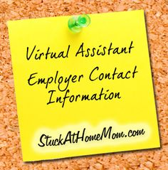 Virtual Assistant Employer Contact Information