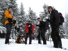 Snowshoeing with a tourist group from Switzerland in Caliman Mountains #greatwalker