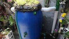 O técnico agropecuário Edison Urbano ensina como montar um coletor de água de chuva, que ele batizou de minicisterna. O gasto para confeccioná-la varia entre R$ 150 e R$ 300. O equipamento tem capacidade para armazenar 200 litros de água e com ele é possível reduzir em até 50% a conta de água, estima Urbano. <a href=http://noticias.uol.com.br/cotidiano/ultimas-noticias/2014/11/26/por-r-150-coletor-de-agua-de-chuva-ajuda-a-reduzir-conta-pela-metade.htm>Leia mais sobre a minicisterna</a…