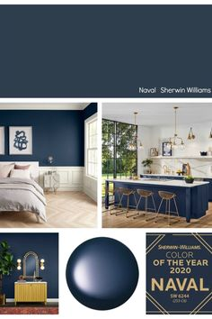 We're highlighting all of the paint manufacturer's 2020 Colors of the Year with lots of room inspiration and ways to use these forecasted paint colors. room ideas paint colors 2020 Colors of the Year Bedroom Wall Colors, Paint Colors For Living Room, Paint Colors For Home, Dark Paint Colors, Paint Colors For Office, Best Office Colors, Colors For Bedrooms, Lowes Paint Colors, Basement Colors