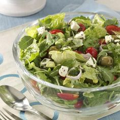 Marinated Cheese-Topped Salad Recipe from Taste of Home brought to you by our friends at Physicians Mutual