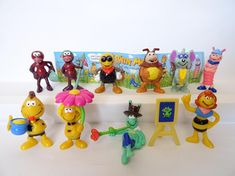 MAYA THE BEE 10 Figurines Cake Toppers Miniatures Toys Figures