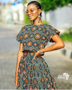 Add some of fun into your clothing collection this year with countless style of two piece outfits, you can match them with other apparels and it can also be worn solo. Irrespective of the combination African Dresses For Women, African Print Dresses, African Print Fashion, African Attire, African Fashion Dresses, African Wear, Fashion Outfits, African Dress Styles, Two Piece Outfit