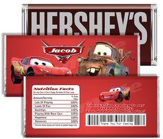 Disney Pixar Cars Candy Bar Wrapper - Cars Candy Bar Wrapper - Cars Party Favor To Match Cars Invitation