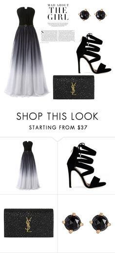 """""""Formal Dress"""" by thuaaadorable ❤ liked on Polyvore featuring Yves Saint Laurent, Irene Neuwirth and Kershaw"""