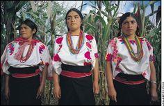 Las mujeres Tzotziles usan un huipil bordado. Los huipiles de Tenejapa son tejidos en telar de cintura con diseños multicolor. Estos motivos son heredados de dibujos mayas, considerados símbolos sagrados. Los hombres Tzotziles visten un cotón en lana blanca con dibujos generalmente cafés. Llevan camisa blanca, un pantalón de manta, huaraches y un huipil tejido en lana pura y adornado con diseños tradicionales como los de la vestimenta de mujer. - See more at…