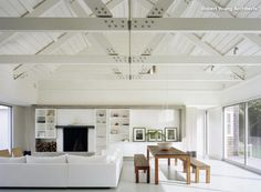 Supporting Act: Exposed Wood Trusses in Design> #calgary #roofing http://www.houzz.com/ideabooks/713208/list/supporting-act-exposed-wood-trusses-in-design