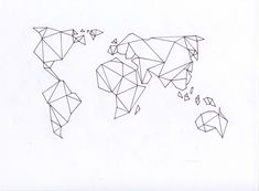 world map geometric