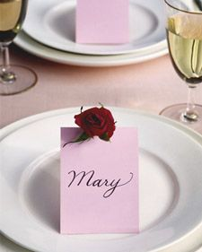 Blooming Place Cards - simple how to.  I think this would make a really cute Hard.  Put a sentiment on the front and a personal note inside and place by her bed when she wakes up or on her desk at the office.