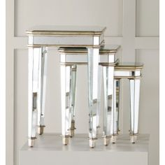 Mirrored Nest of Three Tables, Hooker Furniture, Accents Collection