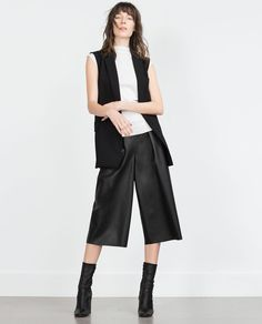 Image 1 of FAUX LEATHER CULOTTES from Zara