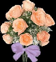 Tinseling Flower Bouquet Animated Picture