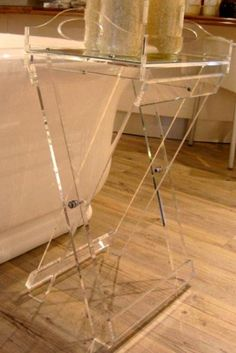 Clear Butler Tray and Stand for Bathroom from Victorian Bathrooms