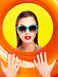 Holland Shoots the Far-Out Editorial 'Color Blocking' for #makeup #beauty trendhunter.com