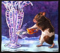 Daily Napkins: Hamster Chainsaw Ice Sculpting