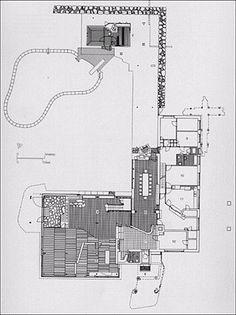 Gallery of AD Classics: Villa Mairea / Alvar Aalto – 10 Gallery – AD Classics: Villa Mairea / Alvar Aalto Oscar Niemeyer, Architecture Plan, Interior Architecture, Architecture Drawings, Villas, Plan Sketch, Rural Retreats, Alvar Aalto, Shed Design