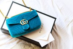 Gucci Marmont Velvet Bag #gucci #marmont #velvet #bag #designer #box