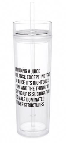 Wholesale Only - I'm Doing a Juice Cleanse Except Instead of Juice It's Righteous Fury and the Thing I'm Giving Up Is Subjugation to Male Dominated Power Structures Crystal Clear Tumbler with Straw - Includes 3 Tumblers Detox Diet Drinks, Detox Juice Cleanse, Detox Juice Recipes, Natural Detox Drinks, Fat Burning Detox Drinks, Detox Juices, Cleanse Recipes, Smoothies, Juice Smoothie
