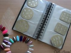 Great tutorial on nail art stamping included a brilliant idea -- store plates in a business card holder!
