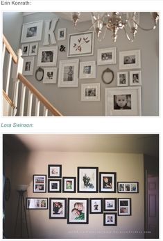 Wall pictures. Can be different colour frames too.. just looking at different options