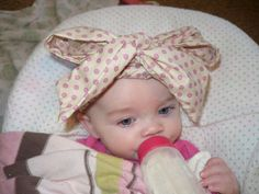 Baby Headband Hair Bow Baby Headwrap Baby Girl by Goodtreasures123