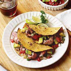 Carne Asada Tacos with Avocado Pico de Gallo Recipe | MyRecipes.com