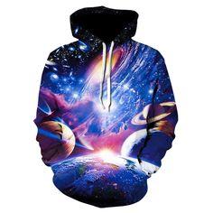 Pink Queen New Fashion Galaxy Planet Sweatshirt Hoodies Print Hip Hop Coats Casual Sweatshirt Sportswear Tops Hoody Hoodies Galaxy Hoodie, Printed Sweatshirts, Mens Sweatshirts, Marshmello Wallpapers, Paisley, Hip Hop, Galaxy Print, Hats For Women, Women Hat