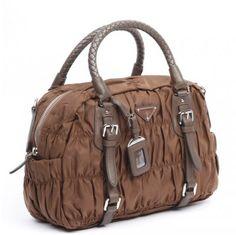 £146.00 Saffiano Prada Vela Nylon Doctor Bag Bl0397 In Tobacco Online Outlet