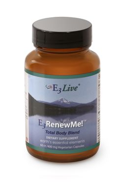 E3 Renew Me! Total Body Blend (capsules or powder) - Enhance the power of E3Live with this superfood green blend. We've blended E3AFA, E3 BrainON (which contains PEA, this provides emotional uplift and mental alertness for your mind) and E3 AFAMend (a natural COX-2 inhibitor with anti-inflammatory properties). This new formula also includes a food-based Vitamin E complex for a smoother taste and overall increased benefits.  $12.95 for 60ct capsules, available in other sizes and powder…