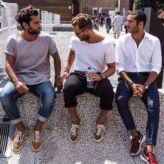 The Classy Issue men beards fashion hair Shirt sneakers. #streetwear @algrave